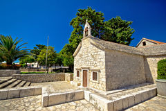 Old stone chapel in Primosten Stock Image