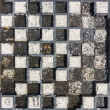 Old stone Chessboard background. Old stone and marble Chessboard background outdoor in the park Royalty Free Stock Photos