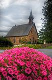 Old Stone Church. An old stone church under a cloudy sky in Churchtown, Pennsylvania, (USA stock photo