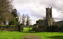 Old stone church. Near Clonmel, springtime 2012 Ireland Royalty Free Stock Images
