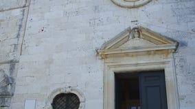 Old stone church in Cavtat stock video