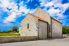 Old stone church in Dalmatia, Croatia. Stock Photos