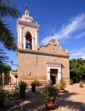 Old stone church in El Quelite stock image