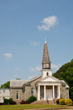 Old Stone Church on Hill with Wood Shingle Steeple Royalty Free Stock Photos