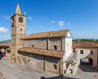 Old stone church in Piedmont, Italy. Royalty Free Stock Images