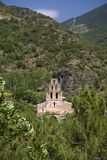 Old stone church in the Pyrenees Mountains, Province of Huesca, Spain Royalty Free Stock Photography