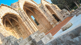 The old stone church of Rhodes Greece Stock Photography