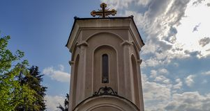 Old stone church in Skopje, Macedonia. On a beautiful summer day royalty free stock images