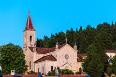 Old stone church surrounded by nature in Dalmatia, Croatia Stock Photo