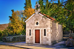 Old stone church surrounded by nature in Dalmatia, Croatia Royalty Free Stock Images