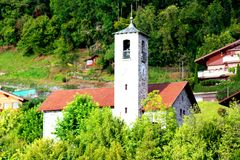 Old stone church in Switzerland Stock Images