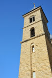 Old stone church tower Stock Image