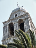Old stone church tower Royalty Free Stock Photo