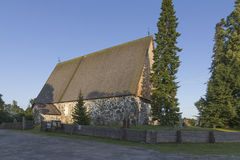 Old stone church. In western Finland stock photos