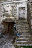 Old stone city street in Oprtalj, Istria, Croatia Stock Photos