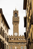 Old Stone Clock Tower in Florence Stock Photos