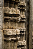 Old stone column. Part of old stone column in indian temple Stock Image