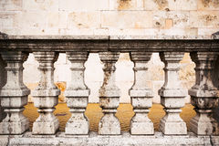 Old stone columns. Old-style stone columns in a European city Stock Photo