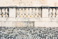 Old stone columns. Old-style stone columns in a European city Royalty Free Stock Image