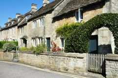 Old Stone Cottages. Row of Old Stone Cottages in Oxford England Stock Image