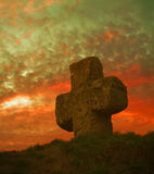 Old stone cross Royalty Free Stock Photo