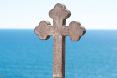 Old stone cross Stock Photos