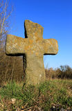 Old stone cross Royalty Free Stock Images