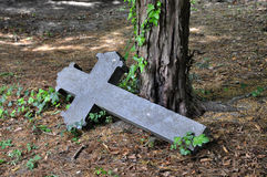 Old stone cross Stock Photography