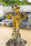 Old stone cross with lichen Royalty Free Stock Photos