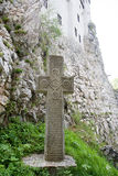 Old stone cross Stock Images