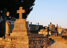 Old Stone Crosses. Detail of Old Stone Crosses Royalty Free Stock Images