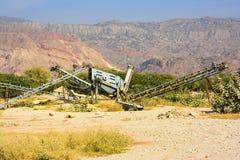 Old Stone Crusher. Old stone crushing machine somewhere near Quaidabad, Khushab, Pakistan Stock Images