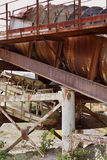 Old stone crushing plant. Gravel mill Royalty Free Stock Photography