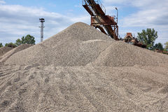 Old stone crushing plant. Gravel mill Royalty Free Stock Photos