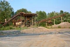 Old stone crushing plant. Gravel mill Stock Photo