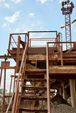 Old stone crushing plant. Gravel mill Royalty Free Stock Image