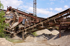 Old stone crushing plant. Gravel mill Royalty Free Stock Images