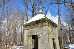 Old stone crypt in the cemetery. Royalty Free Stock Images