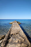 Old Stone Dock Stock Image