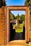 Old Stone Door of Baphuon temple Royalty Free Stock Photos