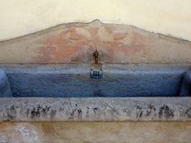 Old Stone Drinking Trough, Sienna Royalty Free Stock Photo