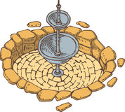 Old Stone Dry Fountain Royalty Free Stock Photography