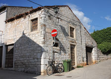 Old stone empty abandoned  house  in Rovinj in Croatia Stock Images