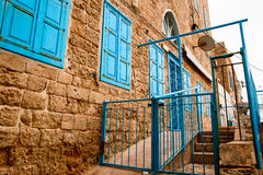 Old stone facade Acre Israel Stock Photography