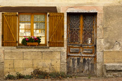 Old stone facade Dordone France Royalty Free Stock Image