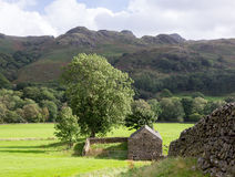 Old stone farm building in Lake District Royalty Free Stock Photos