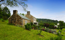 Old Stone Farm House stock photography