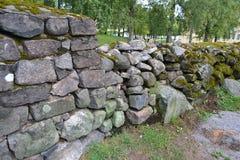 Old stone fence Stock Image