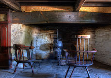Old stone fire place Royalty Free Stock Photos