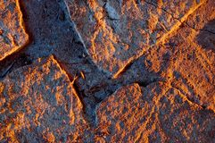 Old stone floor in nice sunset lighting Royalty Free Stock Photography